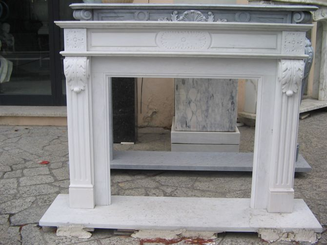 Camino In Marmo Bianco : Camino moderno dell oggetto d antiquariato di marmo bianco del