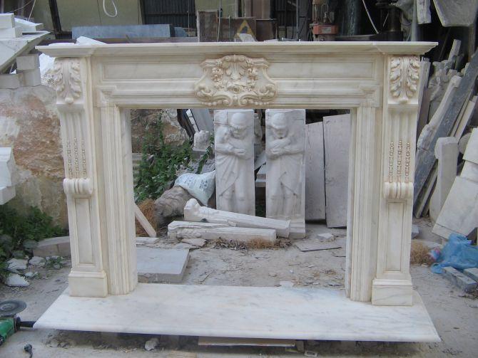 Camino Classico Bianco : Cornice camino finto shabby mobili rebecca camino decorativo