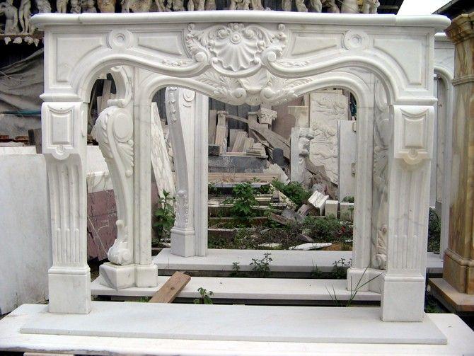 Camino In Marmo Bianco : Caminetto in marmo bianco